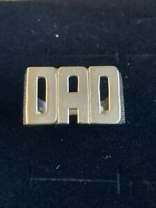 9ct Yellow Gold DAD Ring, Ribbed Pattern To Sides, Size V1/2 Stamped 375 6.35g
