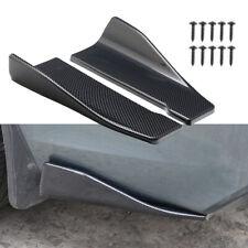 2X Universal 35cm Carbon Fiber Car Side Skirts / Rear Bumper Lip Strip Splitter