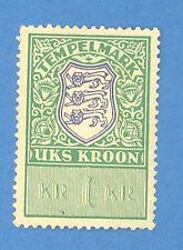 ESTONIA 1 KROON REVENUE STAMP MNH 1024
