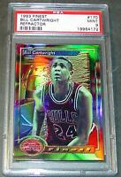 1993 93 BILL CARTWRIGHT FINEST REFRACTOR SHORT PRINT #170 PSA 9 POP 1/6