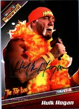 TNA Hulk Hogan H5 2010 Tristar New Era PURPLE Authentic Autograph Card SN 1 of 1