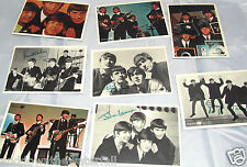 8 Cards Signatures All 4 BEATLES Picture Post Photo 60s Retro Puzzle Music Old