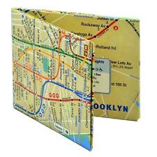 PAPER-LIKE TYVEK BIFOLD WALLET, NEW YORK SUBWAY MAP PATTERN, for ADULTS AND KIDS