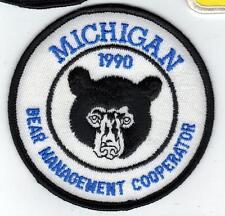 1990 Michigan Dnr Successful Bear Hunter Patch -Deer-Turkey-Elk-Moose-Fi shing