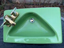 Kohler Vintage Green Sink Triangle Bowl MCM Midcentury Modern