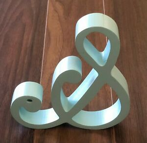 """Pottery Barn Shabby Chic Wooden Letters Home Decorative """"&"""" Blue Office Den And"""