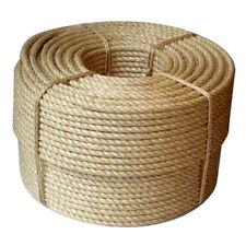 Bobina de 500 M de 6 mm natural puro Yute Cuerda Cuerda Trenzada trenzado de 3 Strand Hilo Nuevo