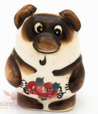 Winnie the Pooh Винни Пух Russian Gzhel porcelain figurine souvenir handmade