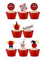 24 Stand Up Naso Rosso Giorno BENEFICENZA wafer commestibile carta Cupcake Cake Topper