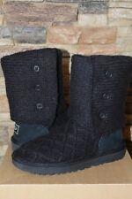NIB UGG LATTICE Cardy Sweater Boots BLACK US 5 6 7 8 9 10