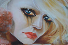 """""""TEARS OF A DREAMER"""" MESMERIZING POP SURREALISM BY LESLIE DITTO framed w/glass"""