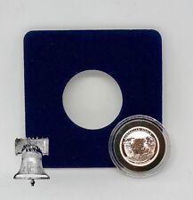 Air-tite Coin Holder Blue Velvet Display Card Insert + Model A Capsule Case