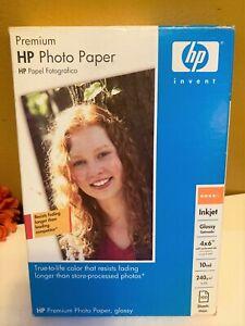 "Premium HP Photo Paper Inkjet Glossy Card Stock 10 Mil  4""x 6"""