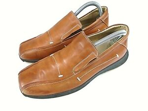 Azor Mens Slip On Shoes Soft Brown leather Rubber Soles UK size 7 EU 41