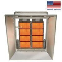 Infrared Natural Gas Heater - 120,000 BTU - 3,000 Sqft - 120 Volts - Radiant