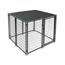 ALEKO Dog Kennel Shade Cover with Aluminum Grommets 5 x 15 Ft  Black