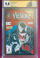 VENOM FIRST HOST #1 - Shattered Comics Lethal Protector Homage Signed 2X CGC 9.8