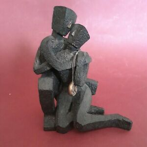 CWSL Friendship Sculpture 2003 Cubist Figurine  Bronze Effect 14cm