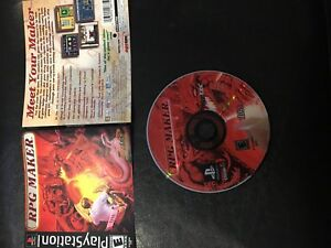 RPG Maker (Sony PlayStation 1, 2000) PS1 ARTWORK & CD ONLY NO CASE OR MANUAL