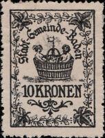 AUTRICHE / AUSTRIA / ÖSTERREICH - Stadt-Gemeinde-Baden 10 KRONEN Revenue Stamp