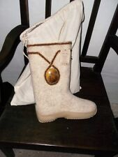 new in bag VILKS boots wool made in SIBERIA size 39 6