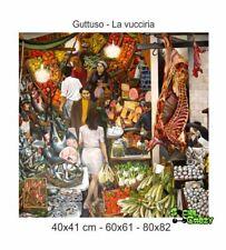 Stampa suTela Canvas 100% QUALITà ITALIA - Guttuso - La vucciria