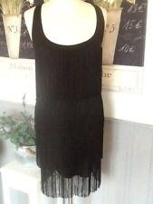 PATRIZIA PEPE DRESS FLAPPER FRINGE 1920'S GATSBY CHARLESTON SIZE 1 UK 8