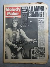 MELODY MAKER 22nd September 1973 ~ Jeff Beck ~ Yoko Ono ~ Garden Party!