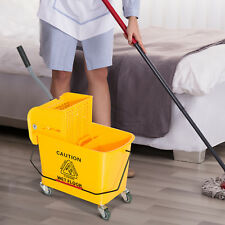 5 Gallon Mini Mop Bucket with Wringer Combo Commercial Rolling Cleaning Cart