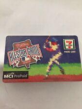 Phillies 1996 All Star Game MCI Prepaid 7 Eleven Phone Card Memorabilia