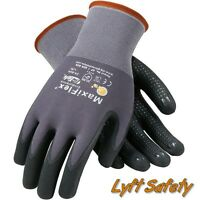 MaxiFlex Endurance Gloves 15G Grey Nylon Black Micro Large Hand Protection Work