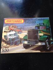 Vintage Matchbox 1982/83 Collector's Catalog $.50