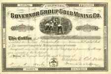 1882 Governor Group Gold Mining Stock Certificate