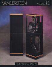 Vandersteen 1-C Original Speaker Brochure 1996