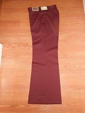 Mens True Vintage 70's Day's Day-Span Allstretch Maroon Dress Pants Mens 31x31