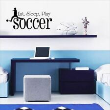 Huhome PVC Wall Stickers Wallpaper English Soccer eat sleep soccer children's ro