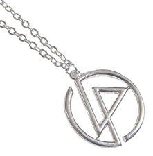 Collier, pendentif  symbole du groupe Linkin park avec chaine.