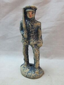 Vintage WWI Composition toy Infantry soldier figure with gun