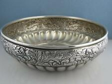 "Sterling WOOD & HUGHES 7 3/4"" Bowl AESTHETIC The Excelsior Bowling Club 1890"
