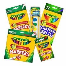 Crayola Back to School Essential Core Pack 5 Piece Bundle Set