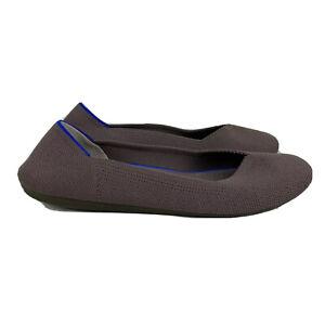 Rothy's Flats 9 Womens Retired Mink Purple Lavender Grey Round Toe Comfort