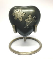 Falling Leaves Heart Keepsake Urn inc Stand and Box