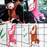 Tissue Box Holder Cartoon Monkey Napkin Dispenser Car Hanging Paper Napkin Box~
