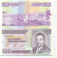 Burundi billete nuevo de 100 francos pick 44 UNC