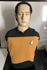 More details for commander data star trek next generation life size bust scale 1:1 sci-fi rare
