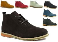 NEW COMFY CAUSAL SUEDE LEATHER LACE UP ANKLE DESERT MEN BOOTS SIZES 6-12