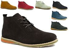 MENS NEW COMFY CAUSAL SUEDE LEATHER LACE UP ANKLE DESERT  BOOTS SIZES UK 6-12
