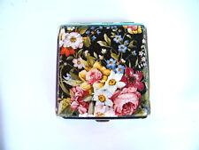 Cigarette case, vintage cigarette box, metal cigarette walet, floral card case
