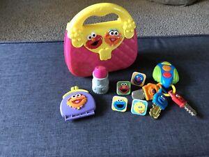 Sesame Street My First Purse Pink Plastic Elmo Zoe Accessories Pretend Play