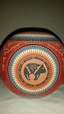 BEAUTIFUL Native American ETCHED Pottery - Signed R. ETSITTY Dini with Turquoise